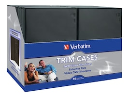 Verbatim CD DVD Video Storage Trimcases (50-pack), 95094, 7113489, Media Storage Cases