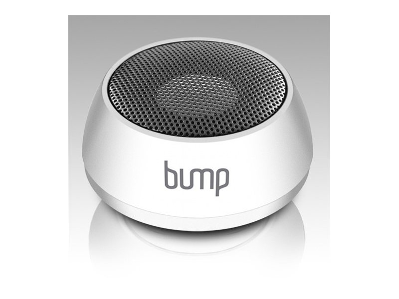 Aluratek Bump Portable Bluetooth Mini Speaker with Built-In Lithium-Ion Battery - White