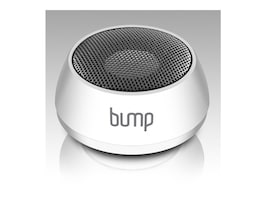 Aluratek Bump Portable Bluetooth Mini Speaker with Built-In Lithium-Ion Battery - White, APS02F, 16484126, Speakers - Audio