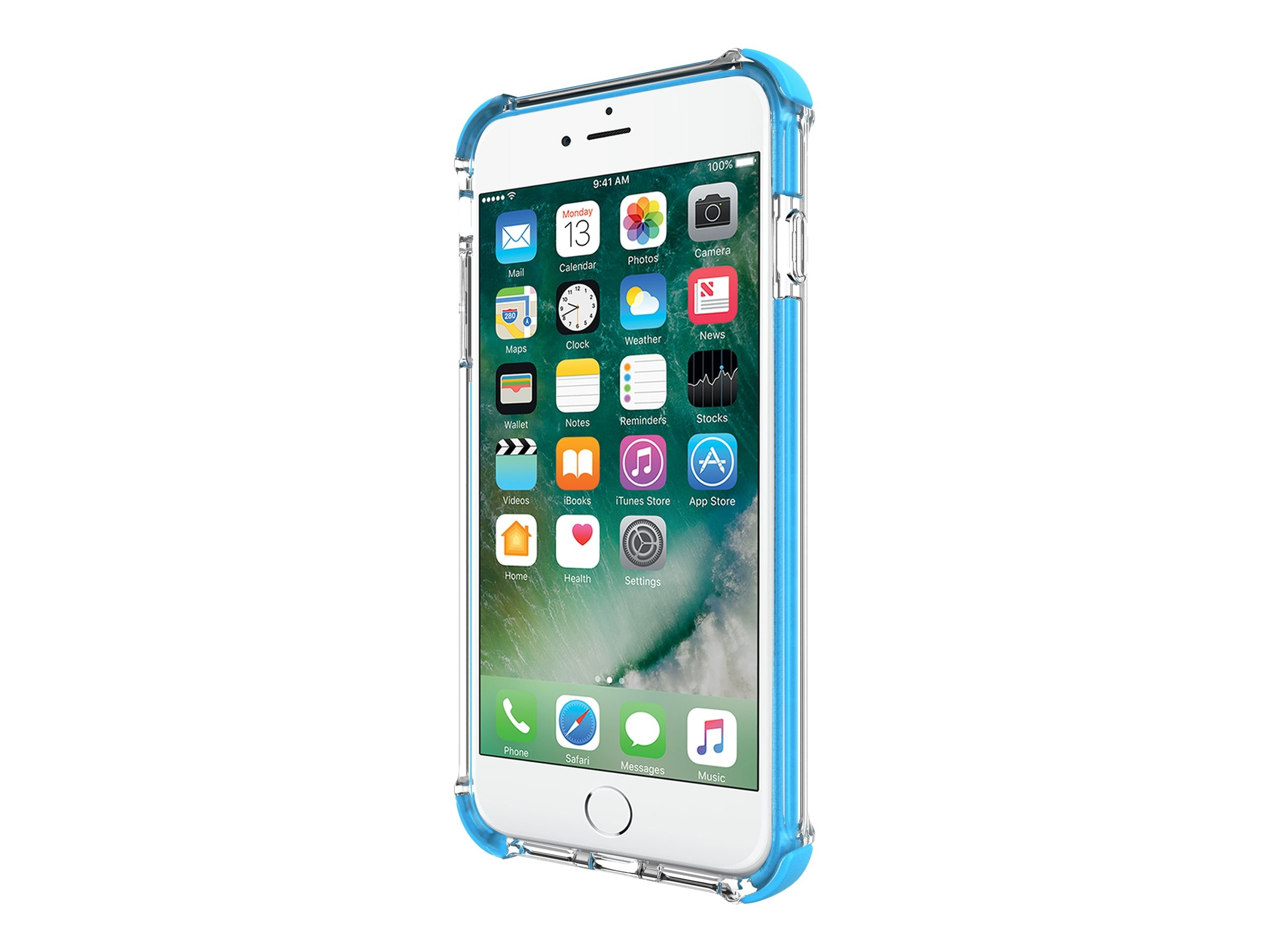 Incipio Reprieve Sport Protective Case with Reinforced Corners for iPhone 7 Plus, Clear Cyan