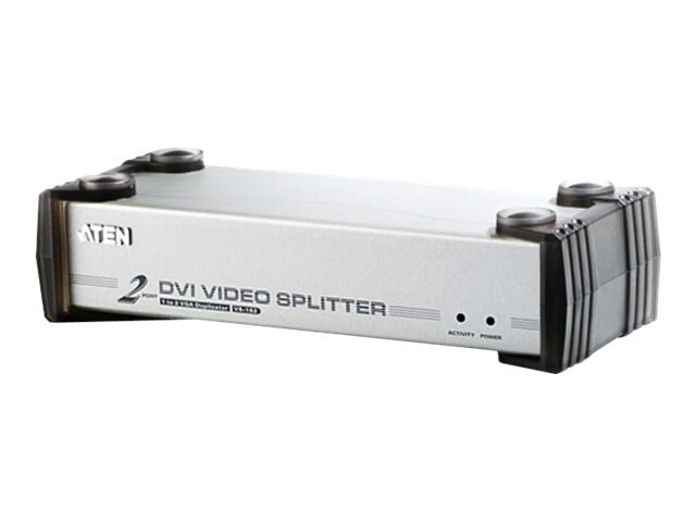 Aten 2-Port DVI Video Splitter, VS162, 6605959, Video Extenders & Splitters