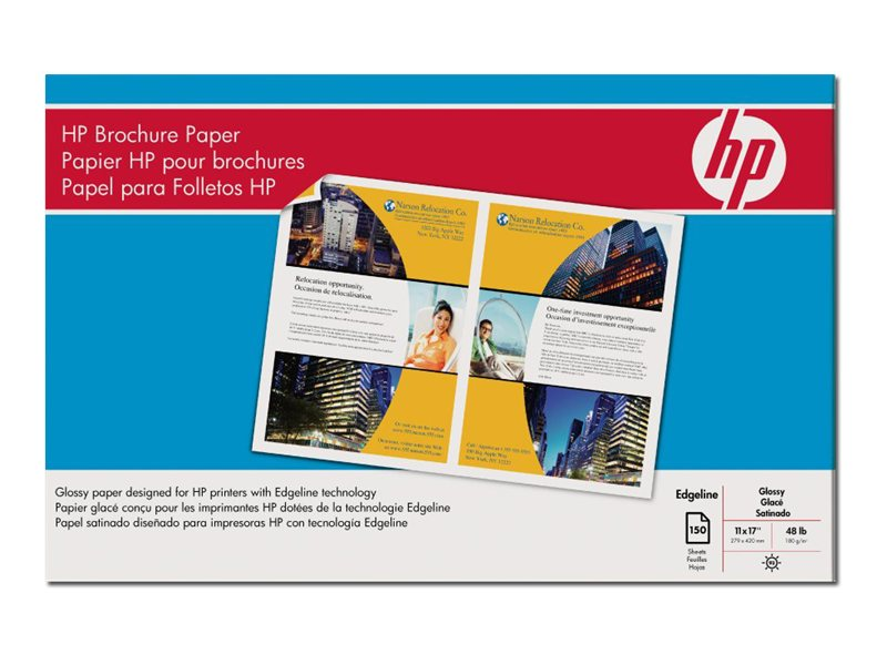 HP 11 x 17 Glossy Brochure EdgeLine Paper for CM8050 and CM8060 Printers, Q8667A, 9225880, Paper, Labels & Other Print Media