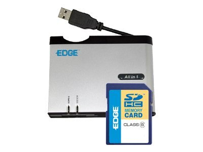 Edge Edge All-in-One Reader with 4GB SDHC Card, PE212629, 7997579, PC Card/Flash Memory Readers