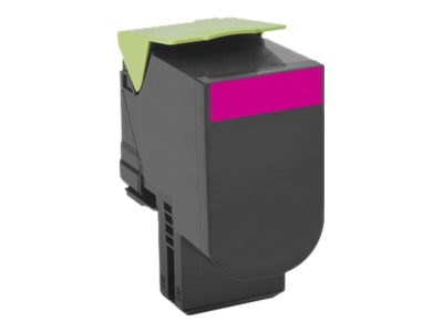 Lexmark Magenta 801XM Extra High Yield Return Program Toner Cartridge, 80C1XM0