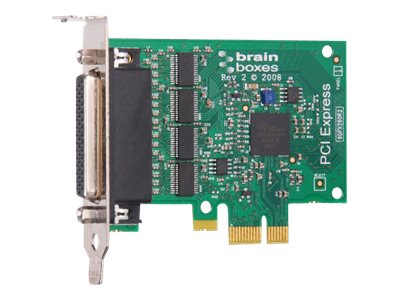 Brainboxes 4-port LP PCIe 4XRS232 1MB Controller, PX-260-001, 14488668, Controller Cards & I/O Boards