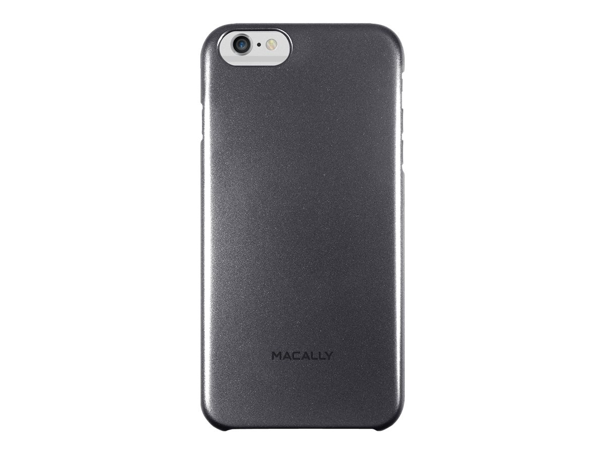 Macally Snap-On Plastic Polycarbonate Case for iPhone 6 Plus, Black, SNAPP6LB, 31202060, Carrying Cases - Phones/PDAs