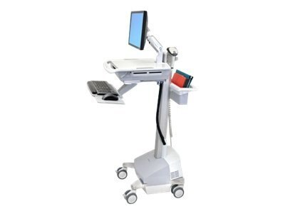 Ergotron StyleView EMR Cart with LCD Arm, Powered, SV42-42221, 11811589, Computer Carts - Medical
