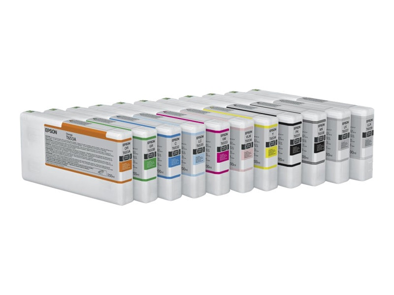 Epson Yellow UltraChrome HDR Ink Cartridge - 200ml for Stylus Pro 4900, T653400, 13135001, Ink Cartridges & Ink Refill Kits