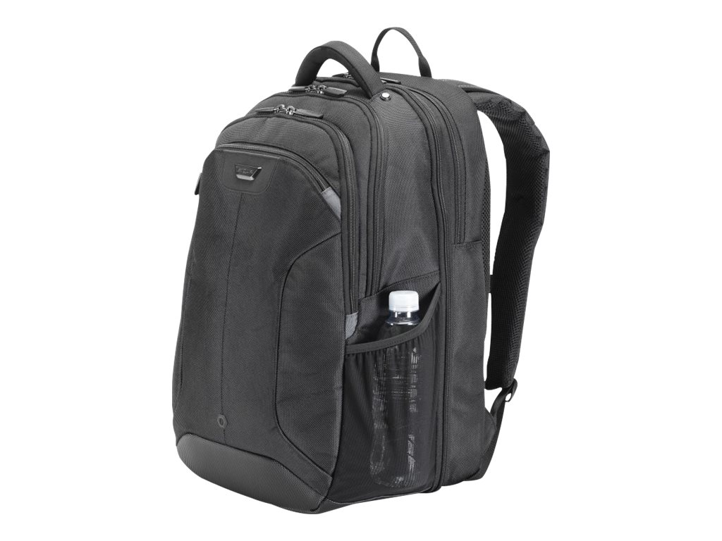Targus Corporate Travel Backpack, 15.4 Nylon, Black, CUCT02B