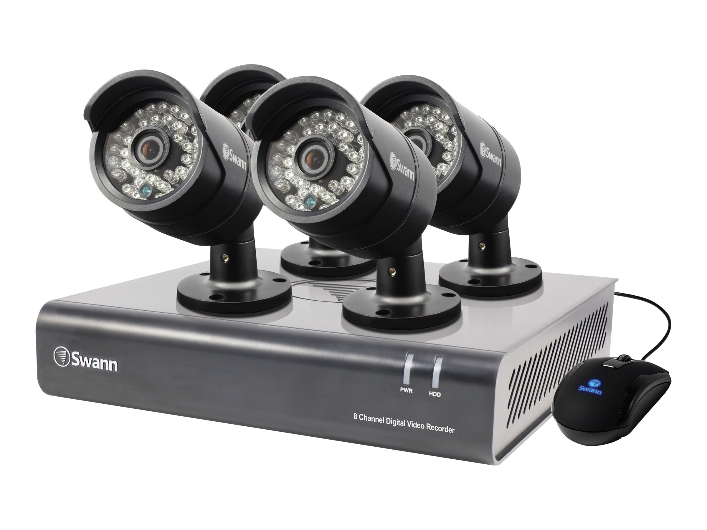 Swann 8-Channel 720p Digital Video Recorder with 1TB HDD, 4x PRO-A850 Cameras