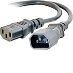 C2G Power Extension Cord, C13 to C14, 250V 13A, 16AWG 3C, 1ft