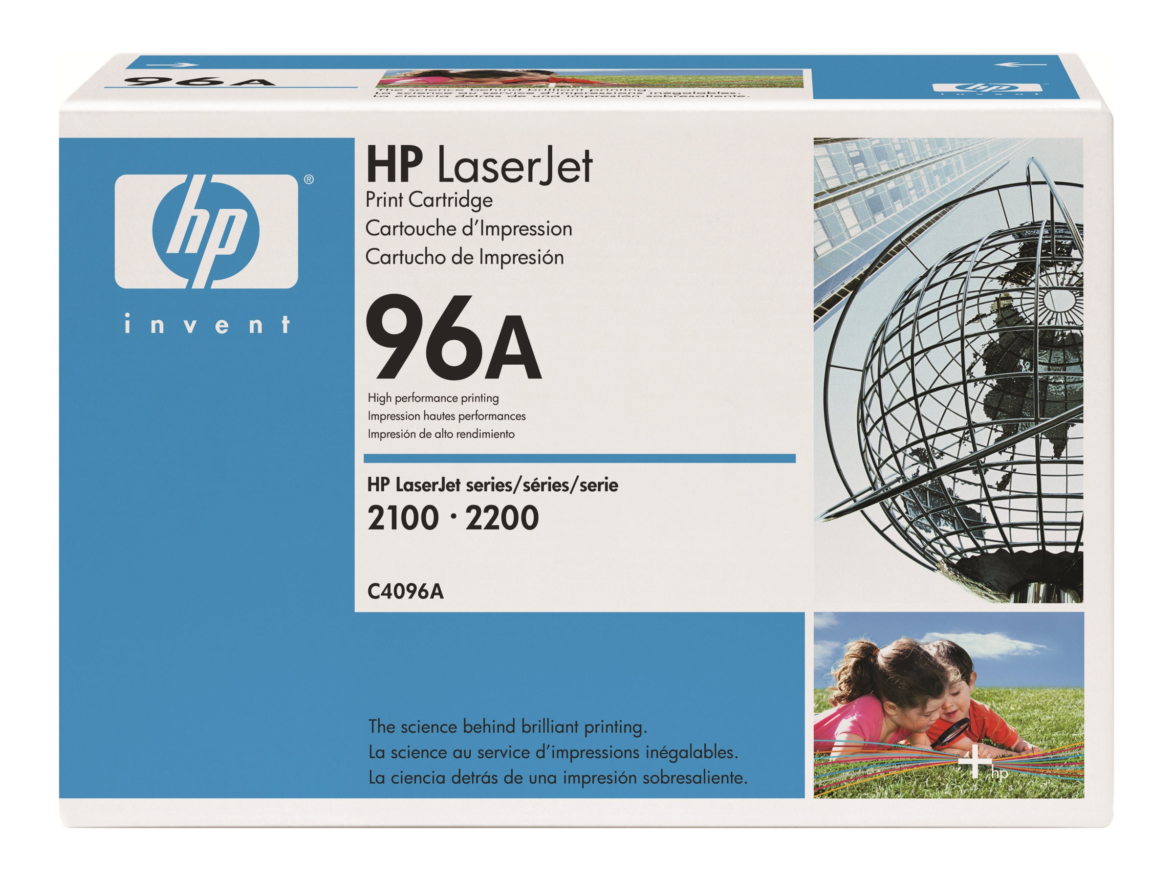 HP 96A (C4096A) Black Original LaserJet Toner Cartridge for HP LaserJet 2100 & 2200 Printers