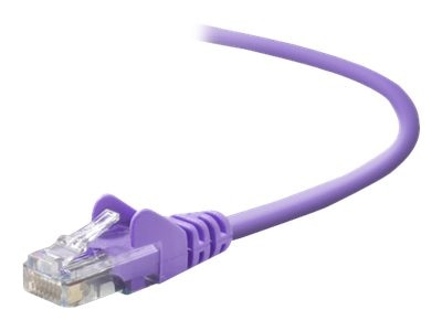 Belkin Cat5e Patch Cable, Purple, 3ft, Snagless, A3L791-03-PUR-S