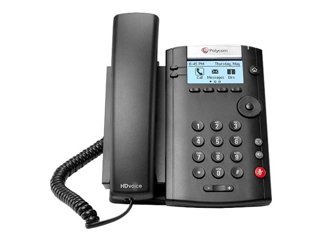 Polycom VVX 201 2-line Desktop PoE Phone w 2xFast Ethernet, 2200-40450-001, 30181703, VoIP Phones