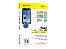 Amzer Kristal Tempered Glass HD Screen Protector for Samsung Galaxy S III, AMZ96703, 33581905, Protective & Dust Covers