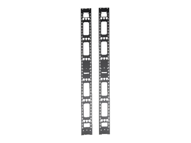 Tripp Lite SmartRack 42U Vertical Cable Management Bars (Set of 2), SRVRTBAR, 20934863, Rack Cable Management