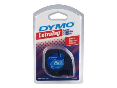 DYMO LetraTag Label - Ultra Blue Plastic w Black Printing, 91335, 193624, Paper, Labels & Other Print Media