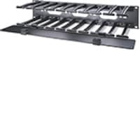 APC 2U Horizontal Cable Manager with Cover, Black, AR8606, 13536111, Rack Cable Management