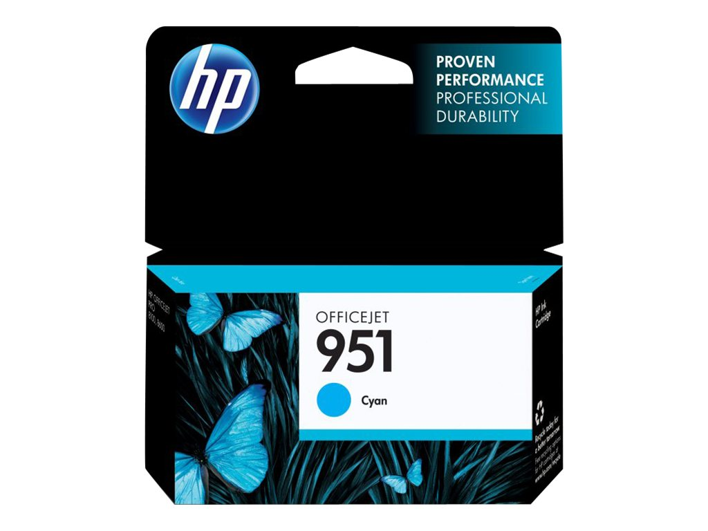 HP 951 (CN050AN) Cyan Original Ink Cartridge, CN050AN#140, 12974304, Ink Cartridges & Ink Refill Kits