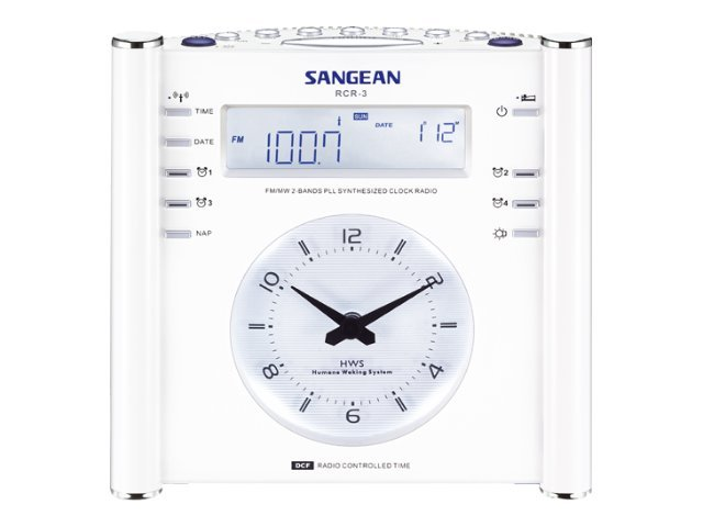 Sangean AM FM Digital Atomic Clock Radio, RCR-3, 9991365, Portable Stereos