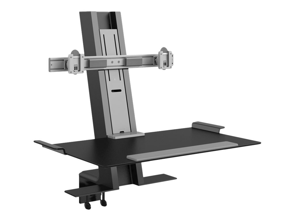 Humanscale QuickStand Dual Monitor Mount, Black, QSBC30DVV