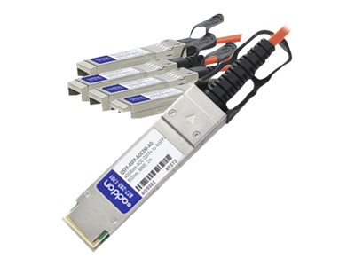 ACP-EP MSA Compliant 40GBase-AOC QSFP+ to 4xSFP+ Direct Attach Cable, 2m, QSFP-4SFP-AOC2M-AO, 17910959, Cables
