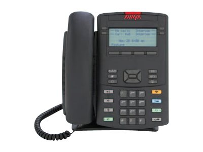 Avaya 1210 IP Phone with Icon Keycaps - No Power Supply, Charcoal, NTYS19CC70E6, 12102291, VoIP Phones