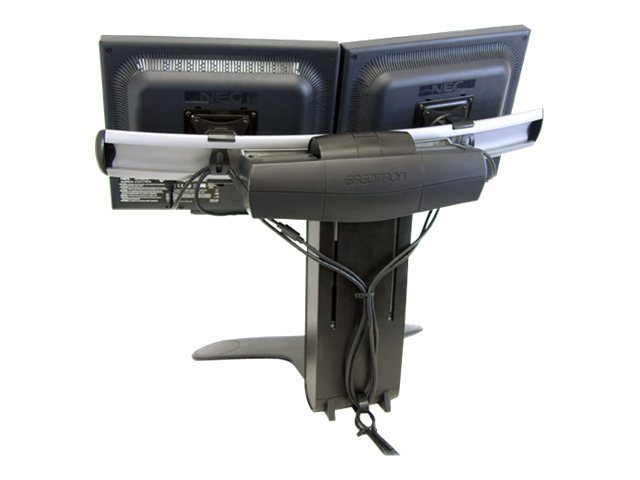 Ergotron LX Dual Display Lift Stand, Black, 33-299-195
