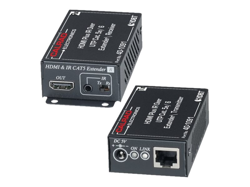 Calrad HDMI and amp IR Over Single CAT5e 6 Cable Extender, 40-1091, 31585259, Video Extenders & Splitters