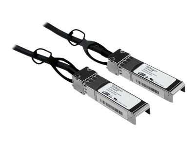 StarTech.com Cisco Compatible SFP+ 10-Gigabit Ethernet (10GbE) Passive Twinax Direct Attach Cable, Black, 2m, SFPCMM2M