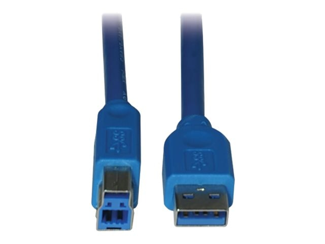 Tripp Lite USB 3.0 Super Speed Device Cable, Blue, 3ft, U322-003, 11854853, Cables