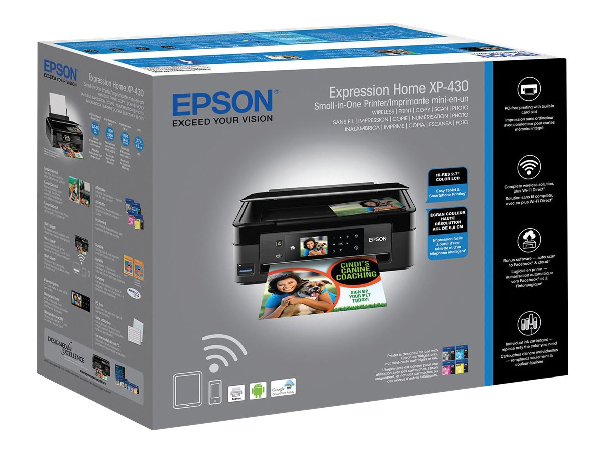Epson Expression Home XP-430 Small-in-One Printer, C11CE59201