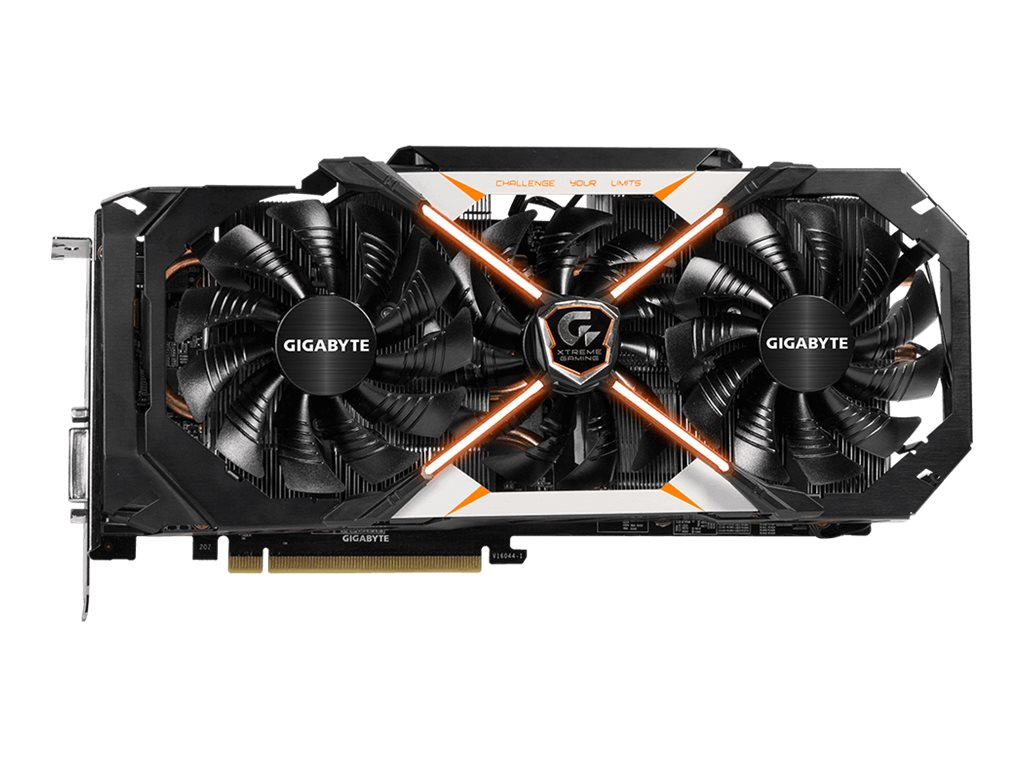 Gigabyte Tech Geforce GTX 1070 PCIe 3.0 x16 WindForce Overclocked Graphics Card, 8GB GDDR5, GV-N1070XTREME-8GD