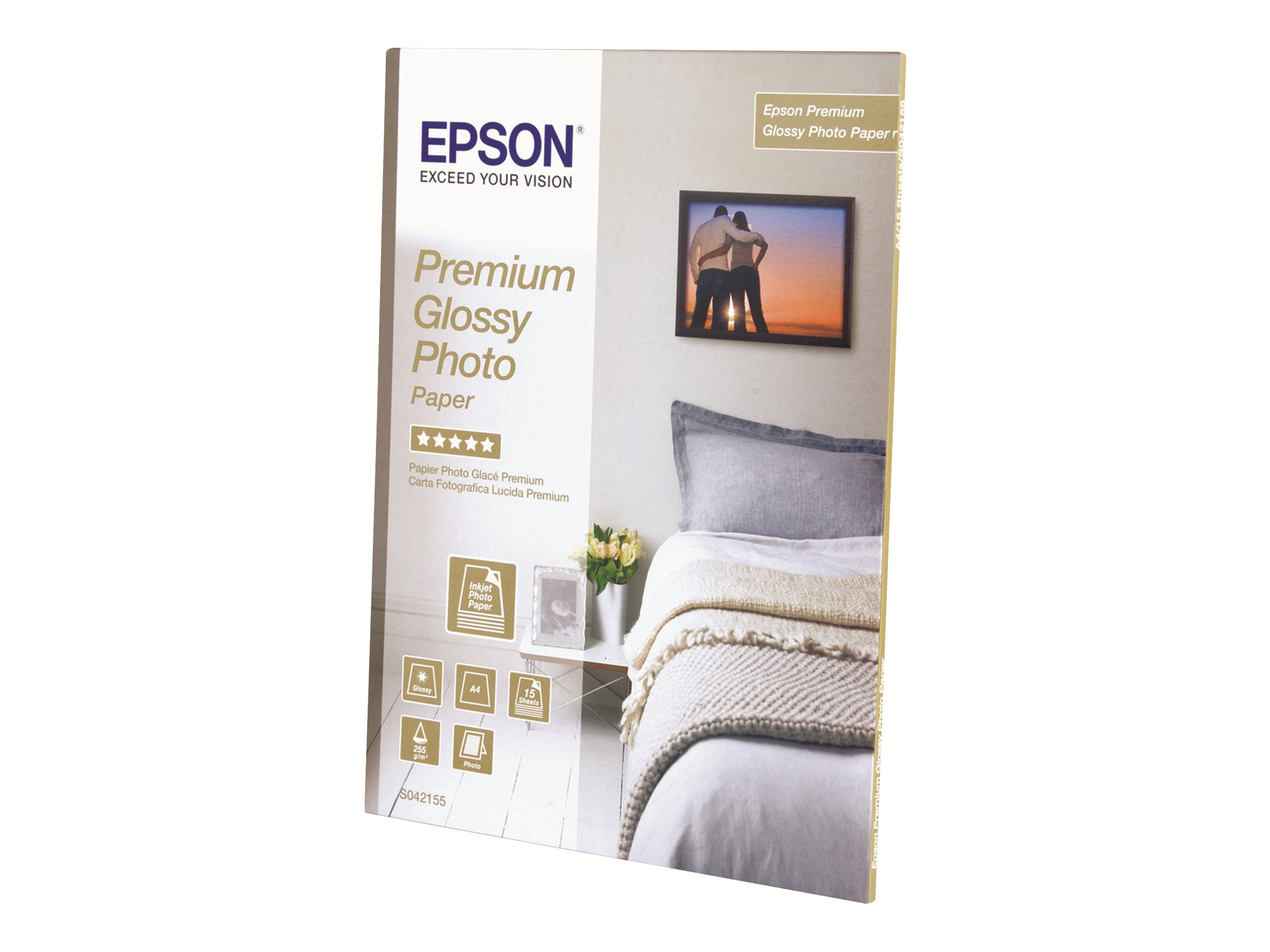 Epson 8.5 x 11 Premium Photo Paper Glossy (25-Sheets), S042183, 8618737, Paper, Labels & Other Print Media