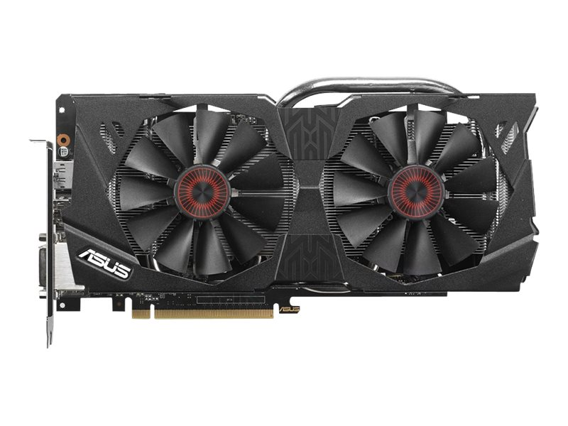 Asus GeForce GTX 970 PCIe 3.0 Graphics Card, 4GB GDDR5, STRIX-GTX970-DC2OC-4GD5, 17834722, Graphics/Video Accelerators