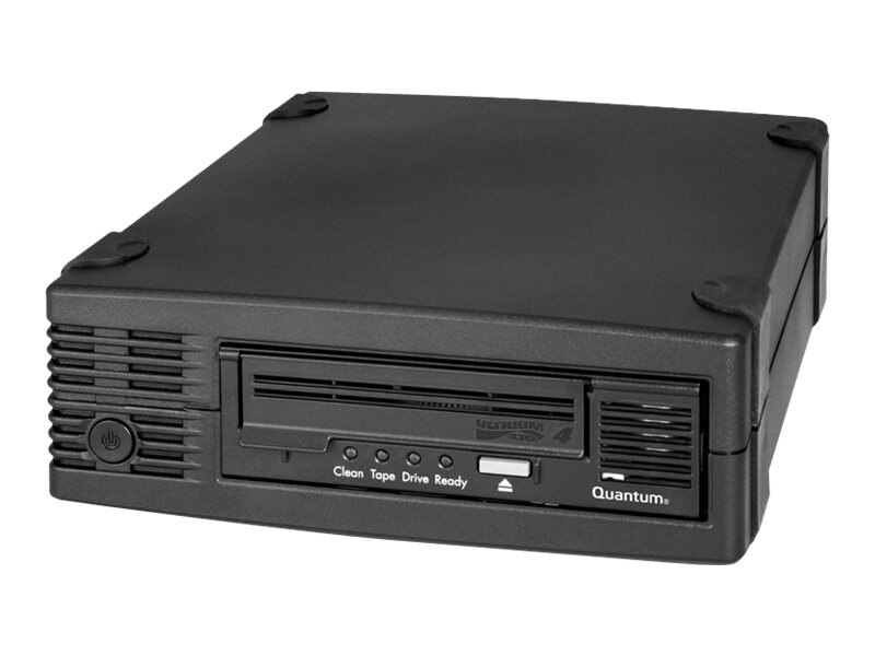 Quantum LTO-4 HH Ultra320 SCSI Tabletop Drive Kit - Black w  (2) LTO Ultrium 4 Media Cartridges, TC-L42BX-EY-B-MB