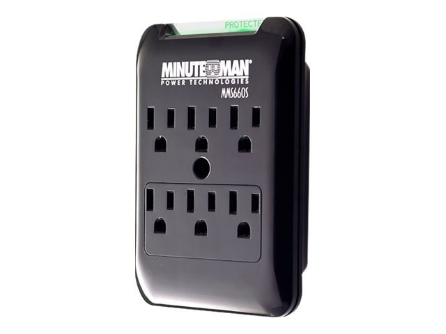 Minuteman 6-Outlet Slimline Wall-tap 1080J, 120V, 15A, MMS660S, 13564606, Surge Suppressors