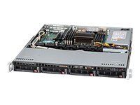 Supermicro SuperChassis 813MTQ 1U RM ATX Dual Single Intel AMD 4x3.5 HS SAS SATA Bays 4xFans 440W, CSE-813MTQ-441CB, 14899213, Cases - Systems/Servers
