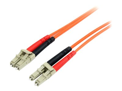 StarTech.com Fiber Optic Patch Cable LC-LC 62.5 125um Duplex Multimode, 3m, FIBLCLC3, 5688810, Cables