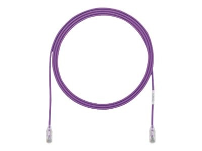Panduit Cat6e 28AWG UTP CM LSZH Copper Patch Cable, Violet, 45ft