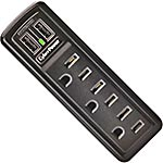 CyberPower Professional Series Mobile 918 Joules, (3) Outlets, (2) USB Charging Ports, Flip-out Plug