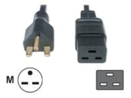 Eaton Power Adapter Cable, IEC320-C19 to 6-15P, 8ft, 010-9336, 10166215, Power Cords