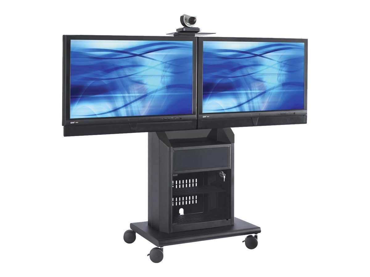 Avteq Dual Display Mobile Cart for 32-55 Flat Panel Displays