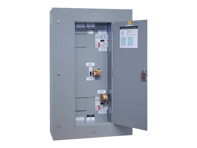 Tripp Lite Maintenance Bypass Panel 3-breaker Wallmount Kirk-key Interlock for 80kVA 3-phase UPS, SU80KMBPK, 8751044, Battery Backup Accessories