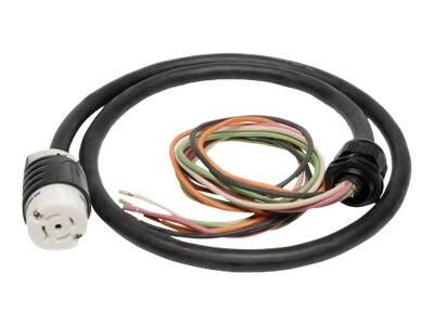 Tripp Lite 208V 3-Phase Whip, 5ft, w  L21-30R Output for 3-Phase Distribution Cabinet Applications
