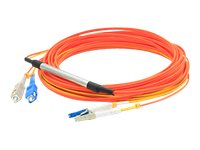 ACP-EP LC-SC 50 125 and 9 125 OM2 OS1 Multimode Singlemode Duplex Fiber Cable, Orange, 2m