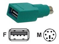 Micro Connectors USB A Type Female Plug To PS 2 Cable Adapter for Combo Mice, G08-212, 344964, Adapters & Port Converters