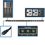 Tripp Lite Metered PDU 5.7kW 208 120V 3-phase 16A 0U L21-20P 6ft Cord (42) 5-15 20R Outlets