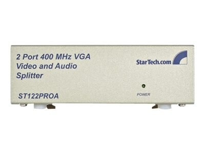 StarTech.com 2 Port VGA Video and Audio Splitter, ST122PROA, 4953896, Video Extenders & Splitters