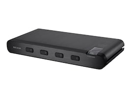 Belkin Advanced Secure 4-Port DVI-I KVM Switch w  Audio, F1DN104B-3, 25876316, KVM Switches